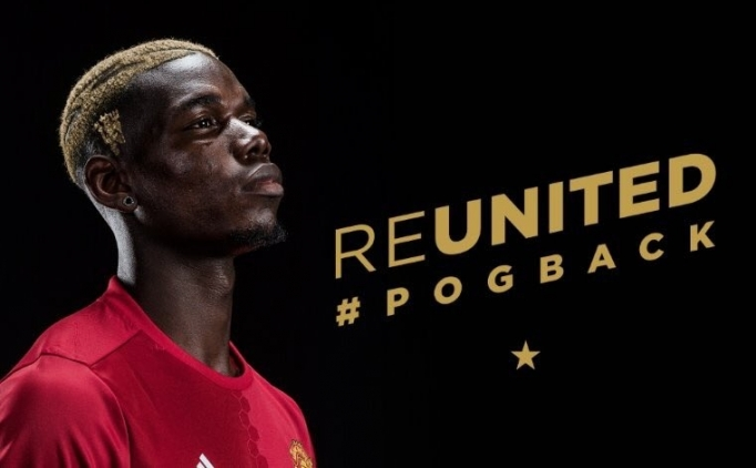 Paul Pogba, Manchester United'da!