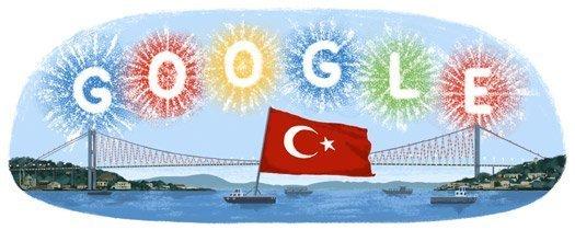 Cumhuriyet Bayramı Google Doodle