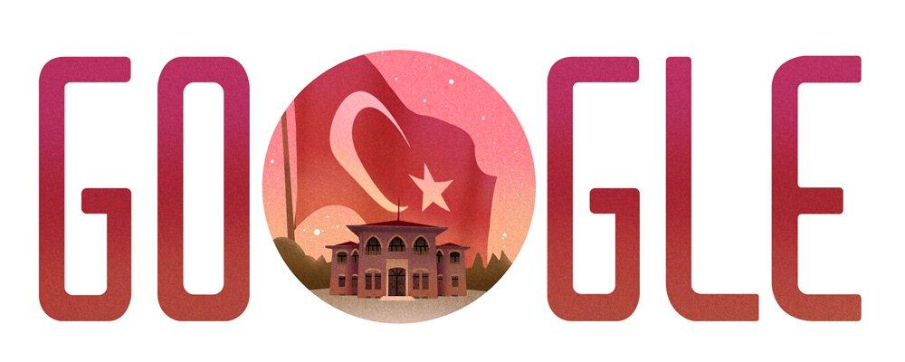 Google 29 Ekim Cumhuriyet Bayrami Doodle