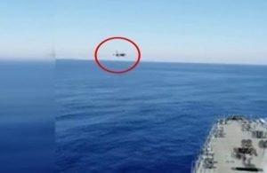 Türk F-16'sı Fatih Sondaj Gemisini Böyle Selamladı!